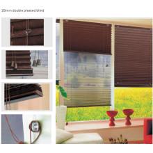 2.5cm двойной плиссированный штор для окна (HB-05D)