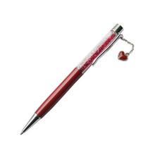 Подарочная ручка с металлическим шариком из сердечка Crystal String