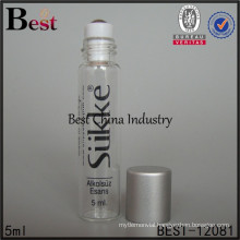 5ml tube glass vial for perfume, round shape, painting color, clear bottle, 2 free samples