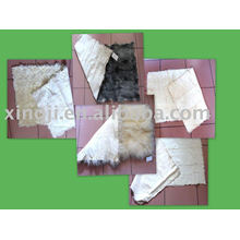lamb fur plate kid/tibet/kalgan/tianjin lamb natural and dyed color