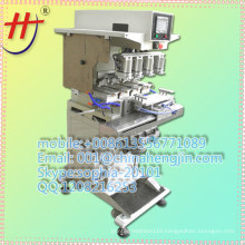 Ink cup 4 color perfume bottles pad printing machine with shuttle