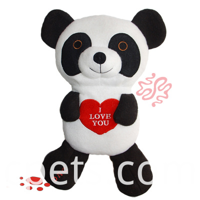 plush panda for Valentine's Day