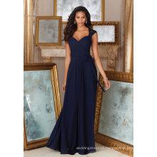 Champagne Lace Beading Chiffon A Line Floor Length Bridesmaid Dress