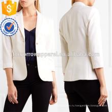 Синий эластичной шерсти смесь Blazer OEM и ODM Производство Оптовая продажа женской одежды (TA7005J)