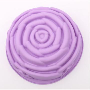 Big Purple Rose Silicone Molde para hornear pan