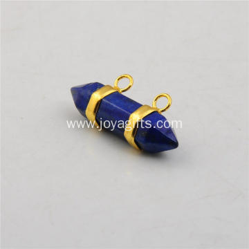 Sterling Lapis Lazuli Hexagon Bicone Pendant Fashion Accessories Jewelry