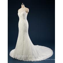 Robes de mariage en ligne de dentelle à manches longues 2017 A-line sans manches AS41101
