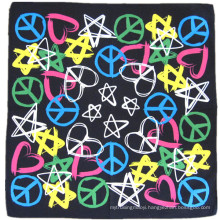 OEM Produce Cheap Customized Design Logo Printed Cotton Head Wrap Bandanna