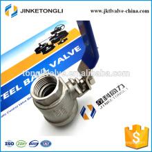 JKTL2B018 manufacture 2 piece floating ss316 water ball valve