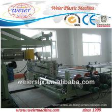 Extrusor de hojas de plástico PP, PE, ABS, TPU