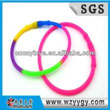 Faixa de pulso elástico Silicone Multicolor de esporte