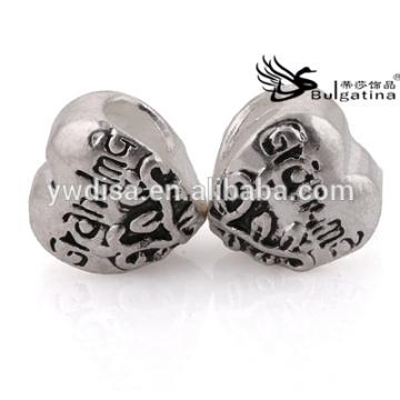 Coração Forma Metal Grânulos Em Venda A Granel Com Preço Baratos Atacado Beads Novo Níquel & Chumbo Grátis Hot
