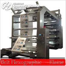 Machine d'impression flexographique à 6 couleurs à grande vitesse