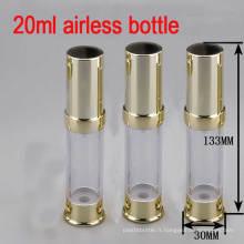 20ml Gold Airless Alu / Plastic Pump Bouteille d'emballage cosmétique