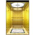 Passenger Elevator Lift Gold Mirror Etching Hl-X-054