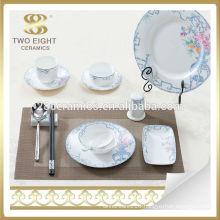 Ceramic blue and white porcelain dinnerware dinner set