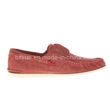 Zapatos ocasionales cómodos del barco de la nueva llegada roja