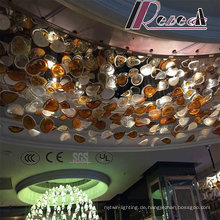 Hotel Dekoratives Glas Hängende Broken Farbe Pendelleuchte