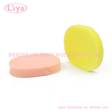 Latex free soft cosmetic body cleaning sponge