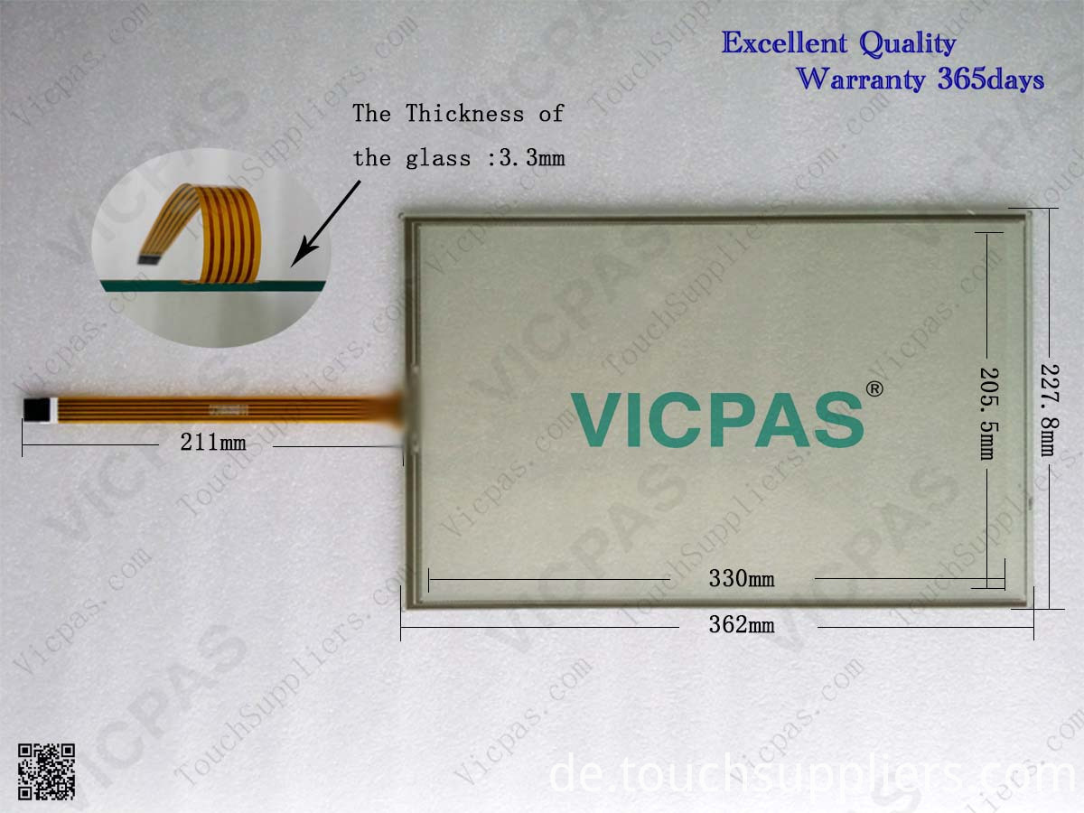 Touch screen panel for 6AV2124-0QC02-0AX0 SIMATIC HMI TP1500 COMFORT touch panel membrane touch sensor glass replacement repair