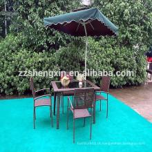 Mesa de jantar ao ar livre e cadeira Conjuntos de móveis de jardim Rattan