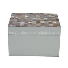 Eco friendly fashion sea shells jewelry box for home decoration