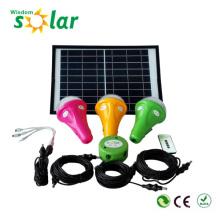 Neuf lampe rechargeable solaire avec chargeur de téléphone portable, kits d'éclairage solaire pour l'éclairage intérieur