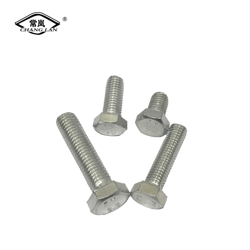 4.8 zinc plated hex bolts nut and washerDIN933