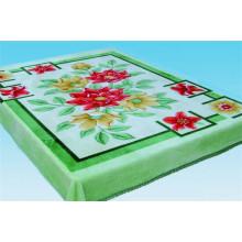 China Fábrica de venta 100% poliéster patrón de flores impresas manta de lana con el mejor precio