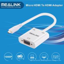 Mirco HDMI para adaptador de cabo de áudio VGA