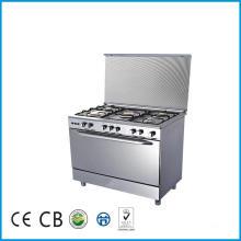 Cuisinière libre de cuisinière de cuisinière de gaz de 5 brûleurs debout avec le four