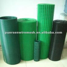Fabricación de rollos de malla soldada recubierta de PVC