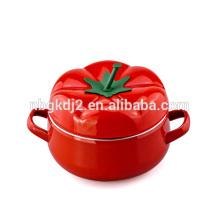 Olla de sopa de la olla de la olla de la olla del crisol del esmalte del tomate 5pcs