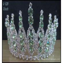 Tiara de la joyería de la plata de la boda al por mayor embroma la corona del desfile de la princesa