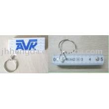 Foldable ruler keying