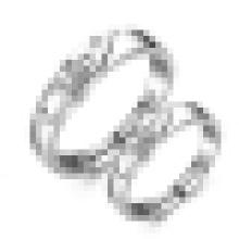 Bague d'ouverture de lettre de mode d'amants d'argent sterling 925 & mldr;