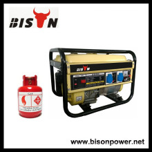 BISON (CHINA) 1.5kw 1.5kva 156F Gás do motor Gerador psto metano