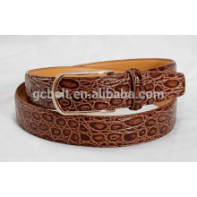 Man's 3cm brown col fashionable PU waist belt