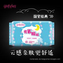 Menstruations-Übernachtungspads aus zertifizierter Bio-Baumwolle
