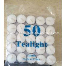 High Quality Pure Paraffin Wax White Tealight Candles in Bulk