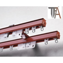 Red Color Single or Double Curtain Rod TF 1961