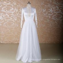 LZ001 Alibaba Long Sleeve Wedding Dresses High Neck Wedding Dress Crystal Wedding Gowns