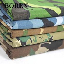 Tecido de camuflagem de sarja de algodão para uso militar e para viagens (16X12 / 108X56)