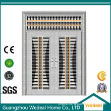 Глянцевая стальная защитная двойная дверь с защитой от воров для массовых поставок