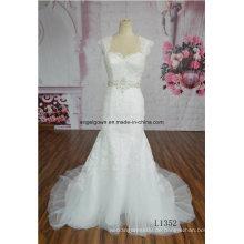 Schatz-Brautkleider, die Tulle-Strand-Hochzeits-Kleider Soem-Service bördeln