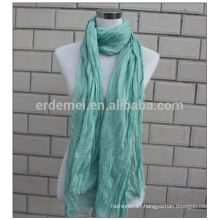 crinkle polyester dyeing dresses hijab scarf
