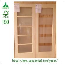 Radiate Pine Interior puerta de madera en madera