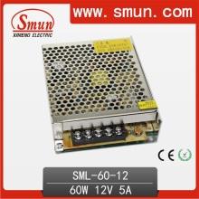60W 12V / 24V sola fuente de alimentación de conmutación de salida diseñado para iluminación LED