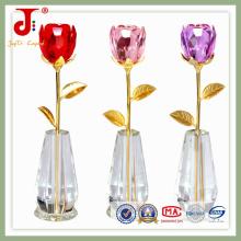Crystal Decoration Flower with Vase (JD-CF-105)