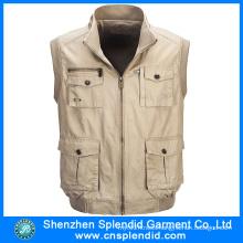 Cheap Wholesale Men Photographer Vest with Multi Pockets